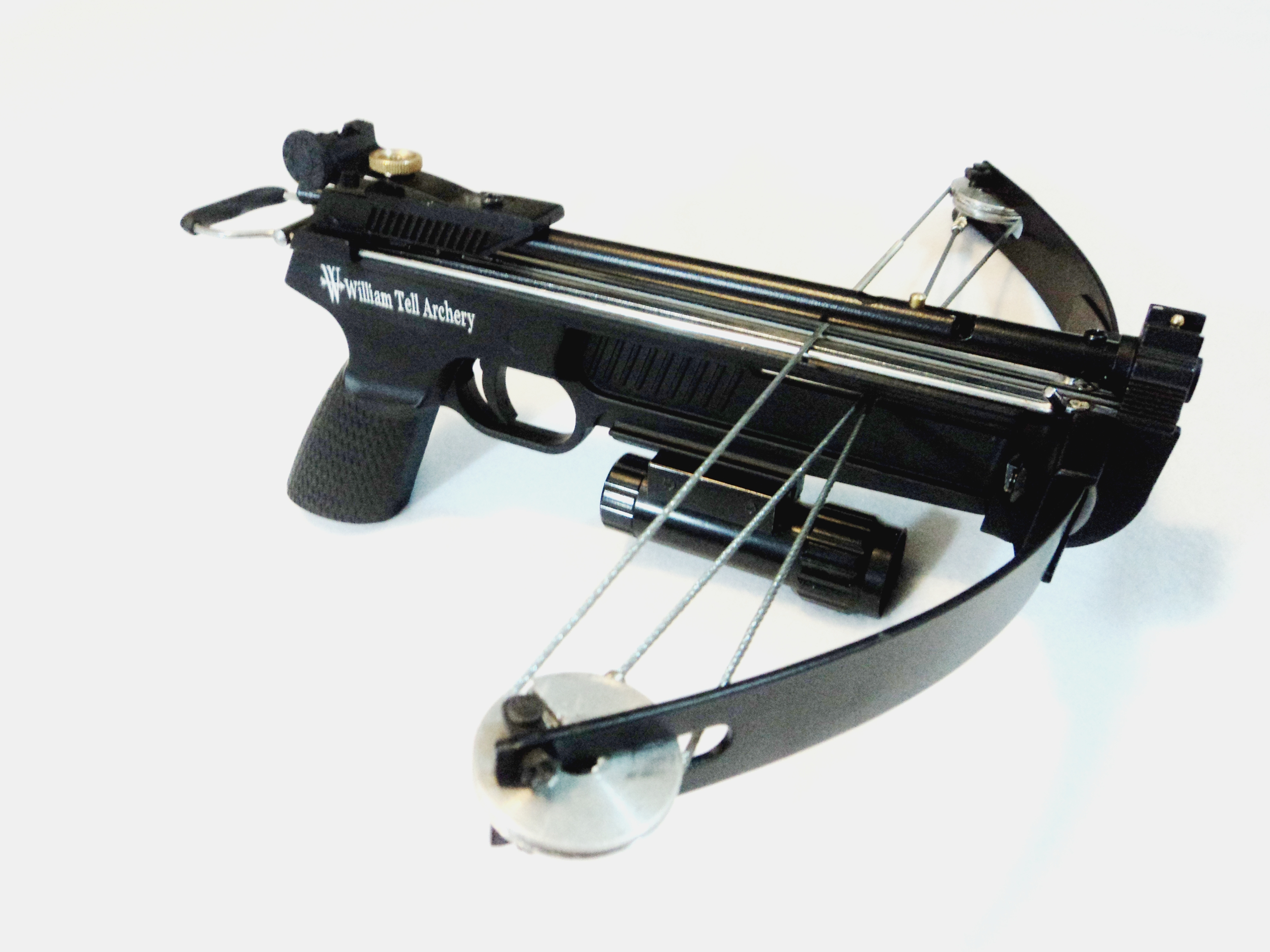 William tell archery supplies wt mantis ii dual cannon for Mini crossbow fishing