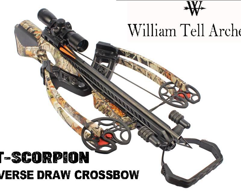 WT SCORPION Reverse Draw Crossbow Camo with 4 x 32 Scope